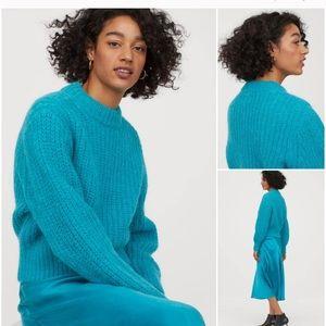 H&M turquoise Alpaca Blend Sweater